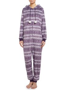 Fairisle fleece onesie