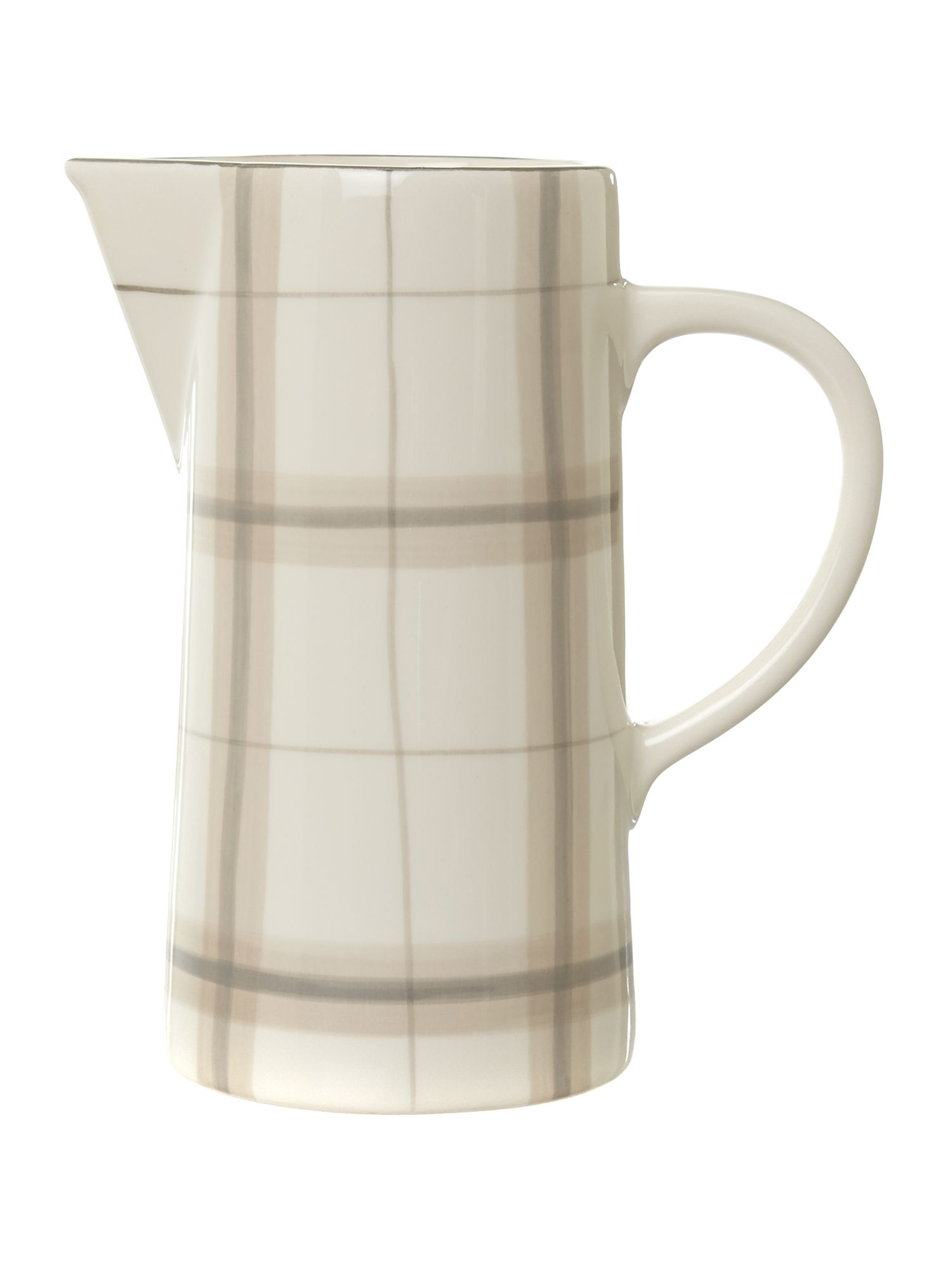 Forest check pitcher jug