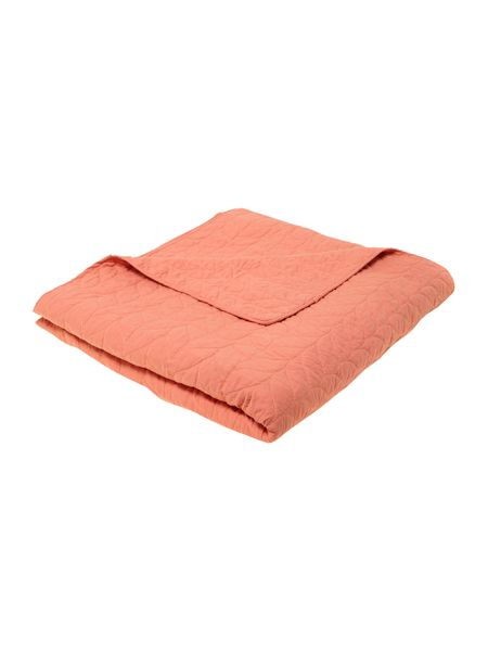 Dickins & Jones Laurel orange bedspread