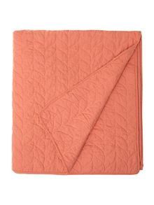 Laurel orange bedspread