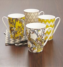 Living by Christiane Lemieux Plume set 4 mugs
