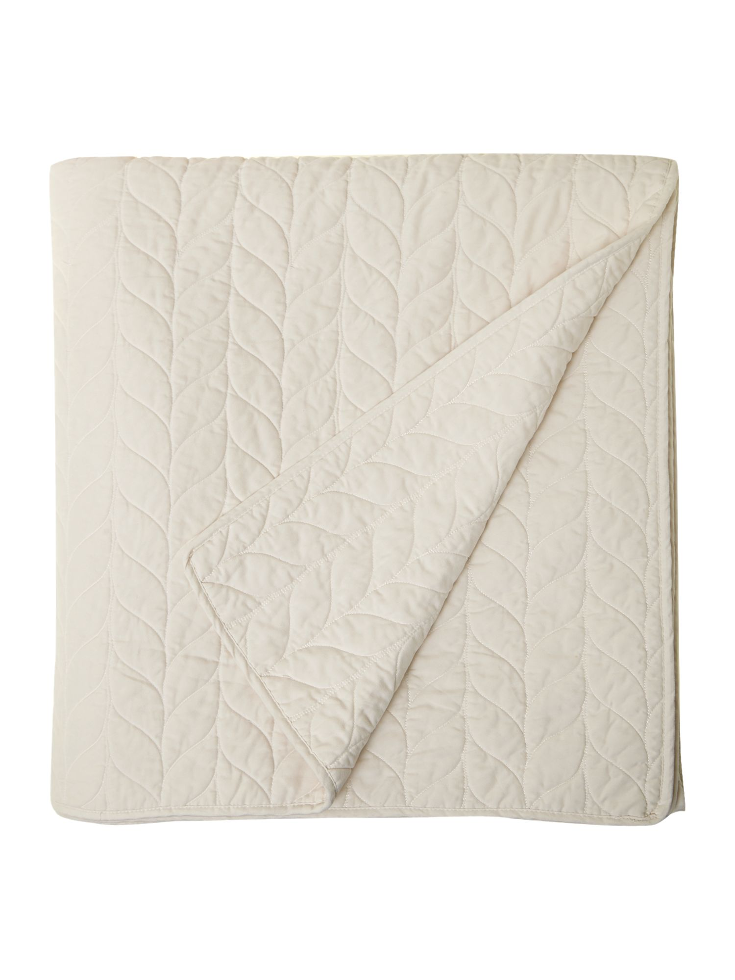 Laurel white bedspread