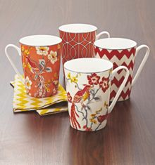 Living by Christiane Lemieux Avery set 4 mugs