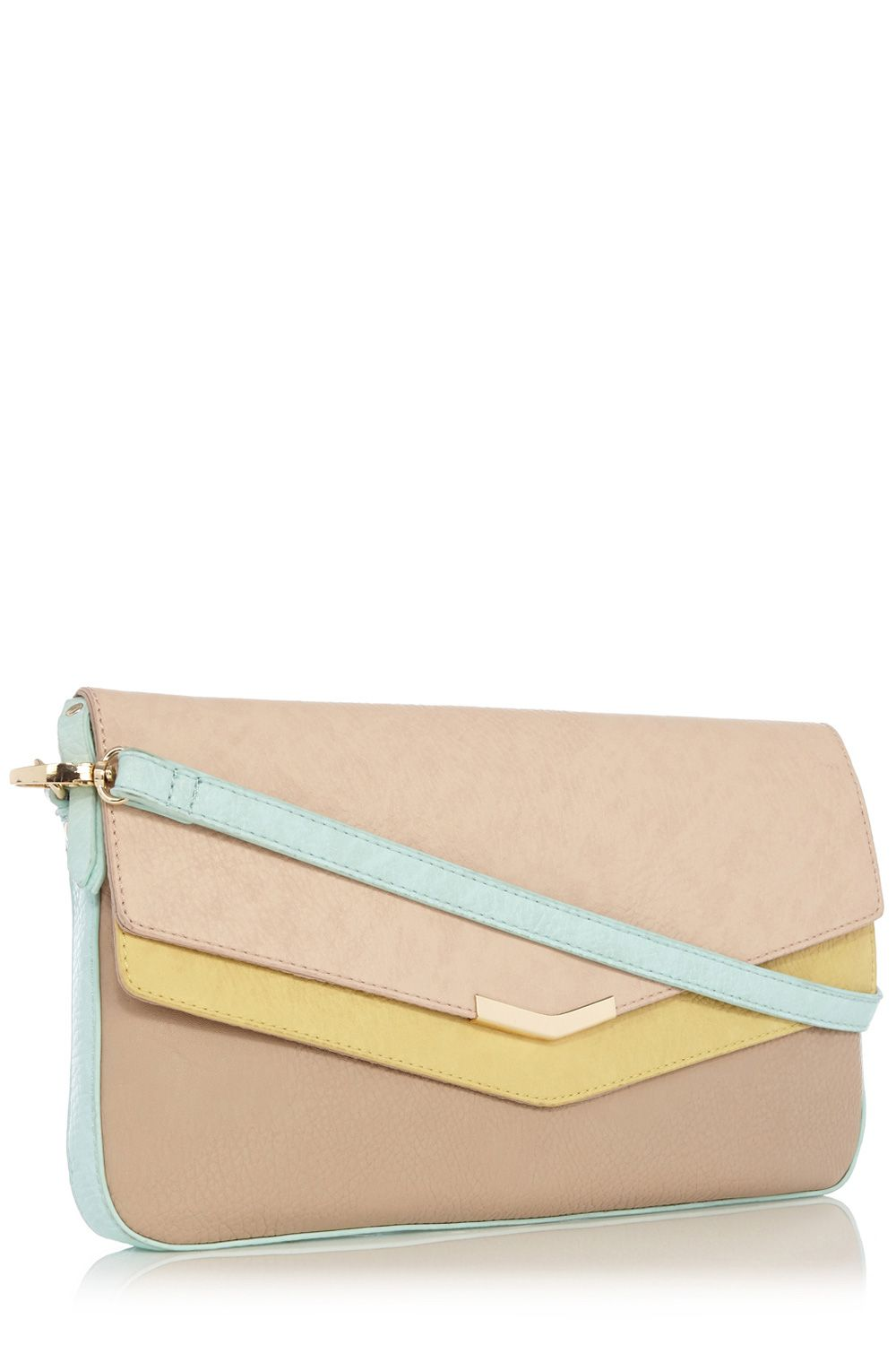 Sassy double flap clutch bag
