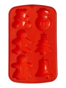 Xmas cup cake mould, red