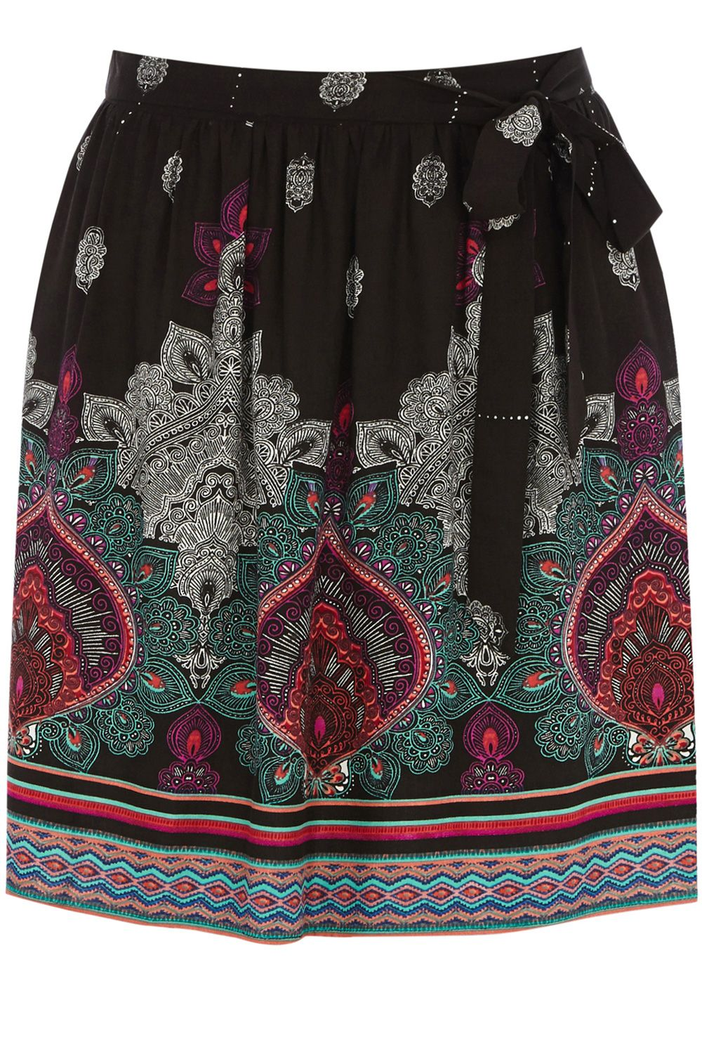Tribal placement skater skirt