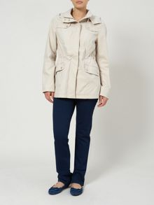 Drawstring waist short coat