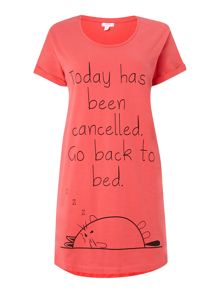 Back to bed jersey sleep tee