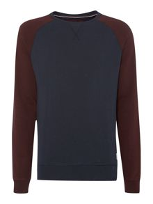 Benton Contrast Raglan Crew Neck Sweat