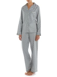 Simple spot print brushed pj set
