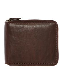 Zip around wallet with coin pocket