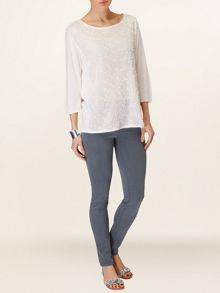 Penelope panel knit jumper