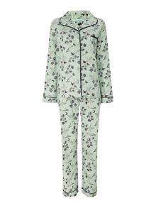 Snowdrop print brush pj set