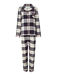 Joni check brushed pj set