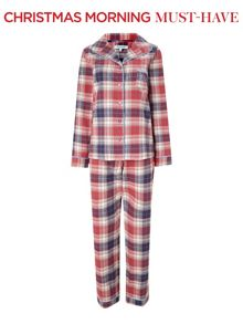 Thelma check brushed pj set