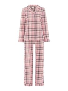 Rose check brushed pj set