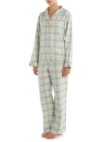 Fern check brushed pj set