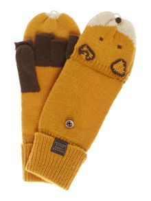 Pawsfield fox wool mix gloves