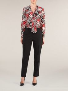 Black ankle trousers