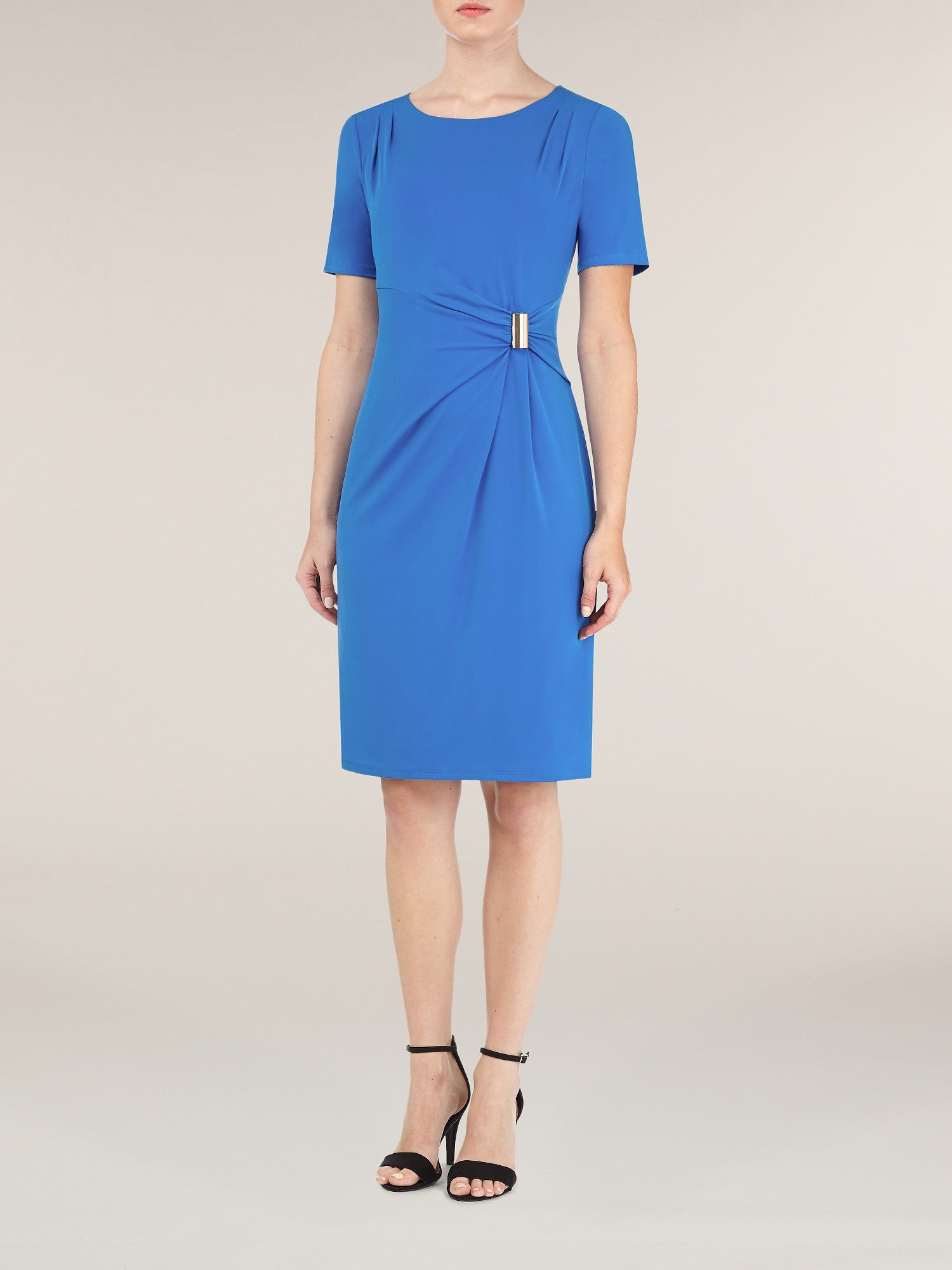 Marine blue jersey dress