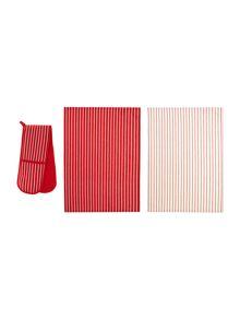 Butchers stripe bundle, red
