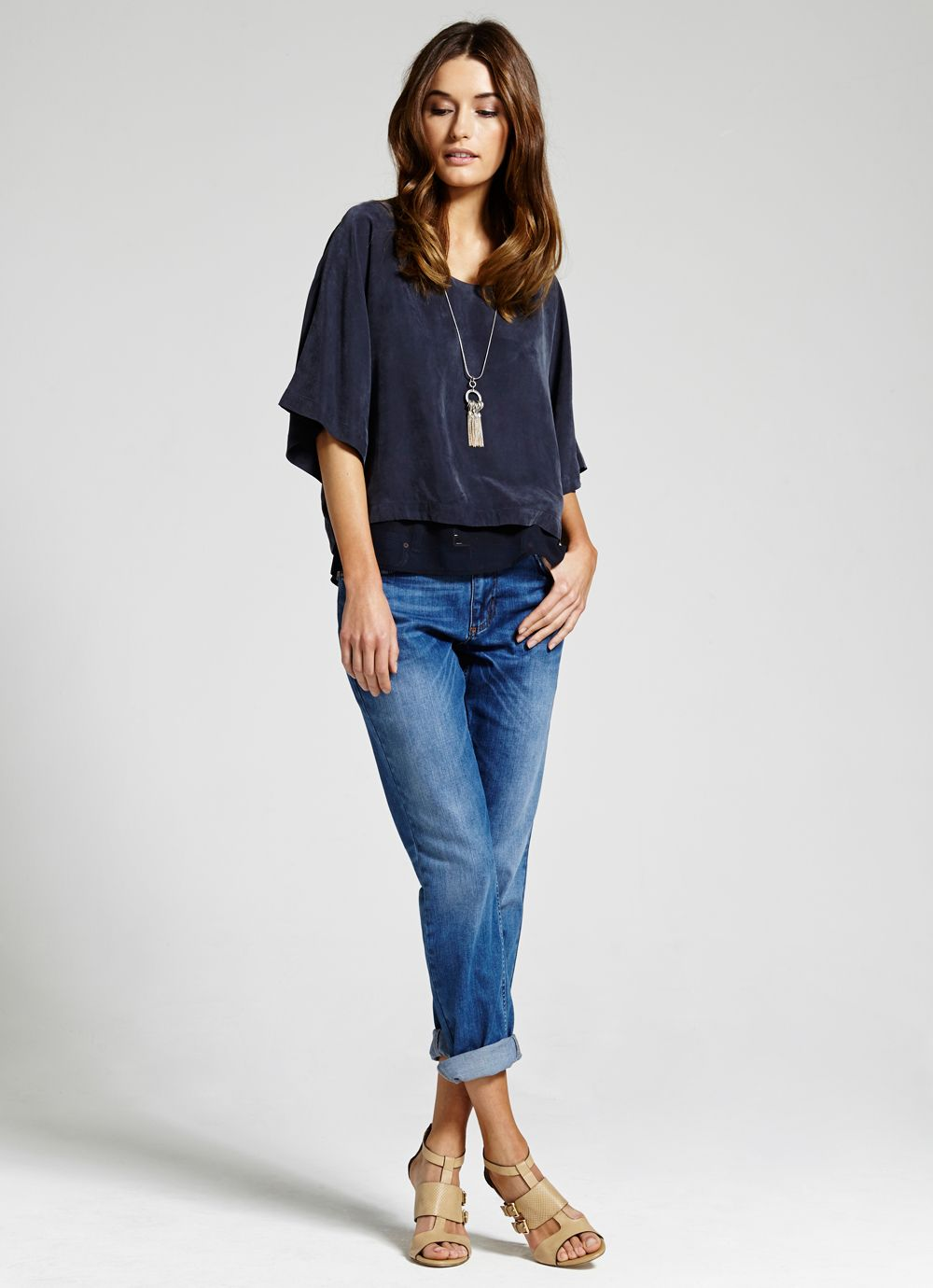 Cupro layered top