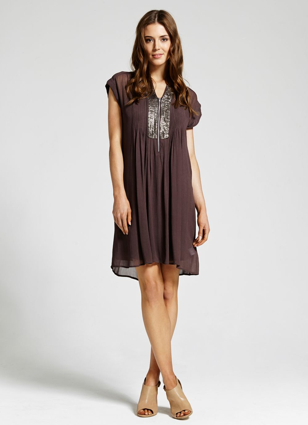 Sequin placket dress