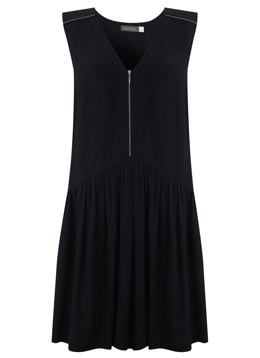 Navy trapeze dress