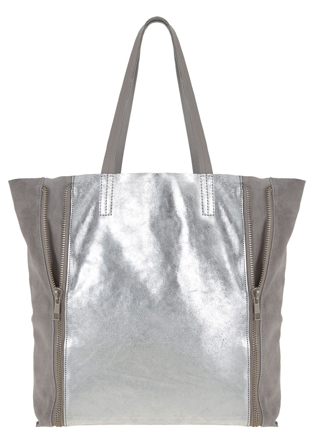 Milly soft leather shopper