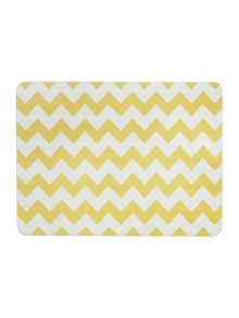 Chevron citrine placemat set of 4