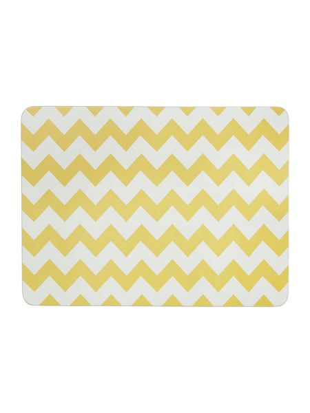Living by Christiane Lemieux Chevron citrine placemat set of 4