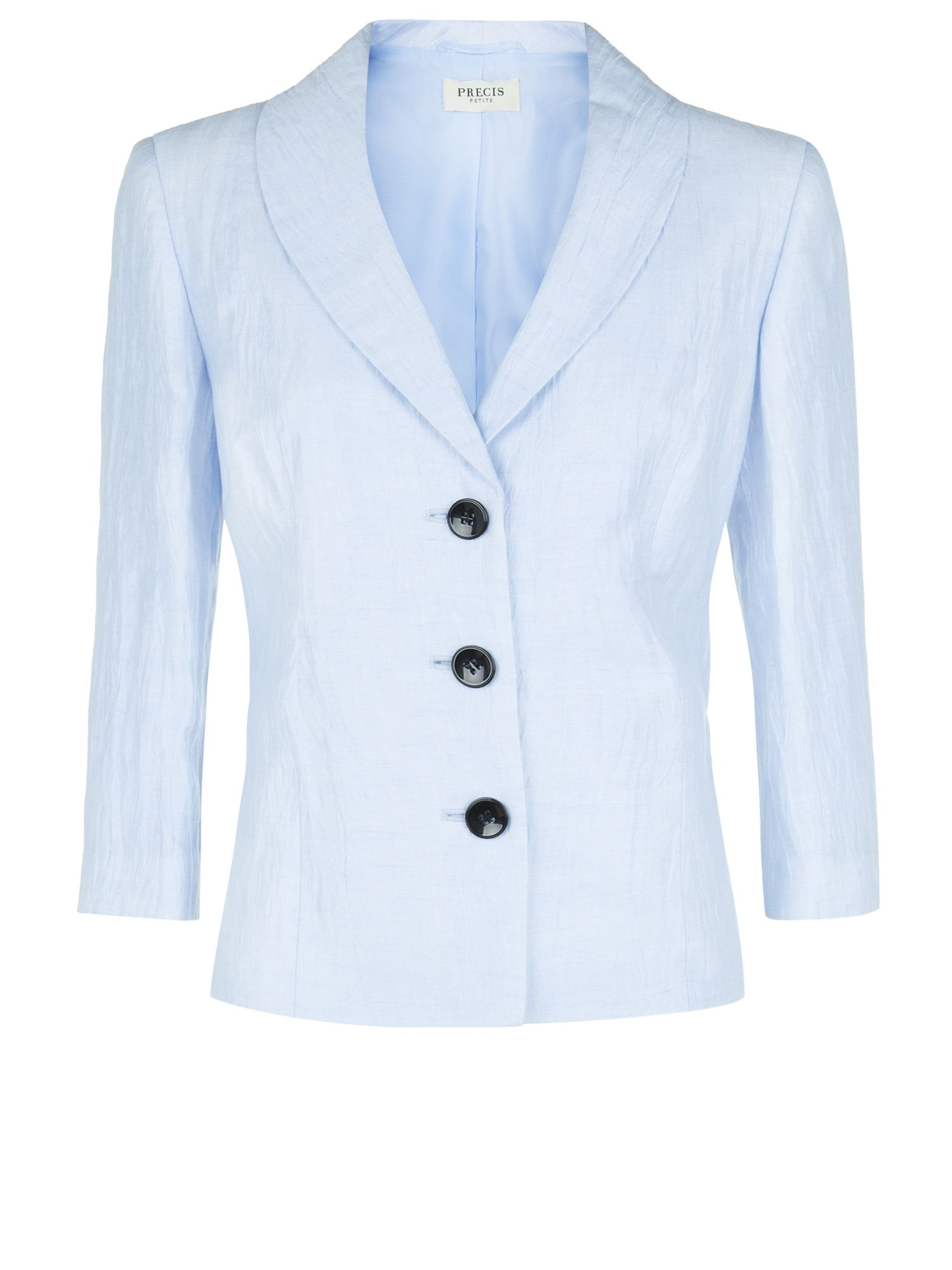 Powder blue crinkle jacket