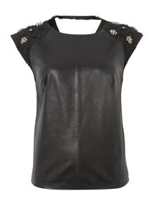 Gold Limited Edition Embellished leather zip top