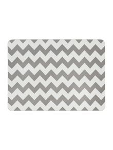 Living by Christiane Lemieux Chevron grey placemat set of 4