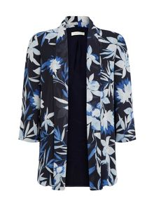 Dark tropical print cover up