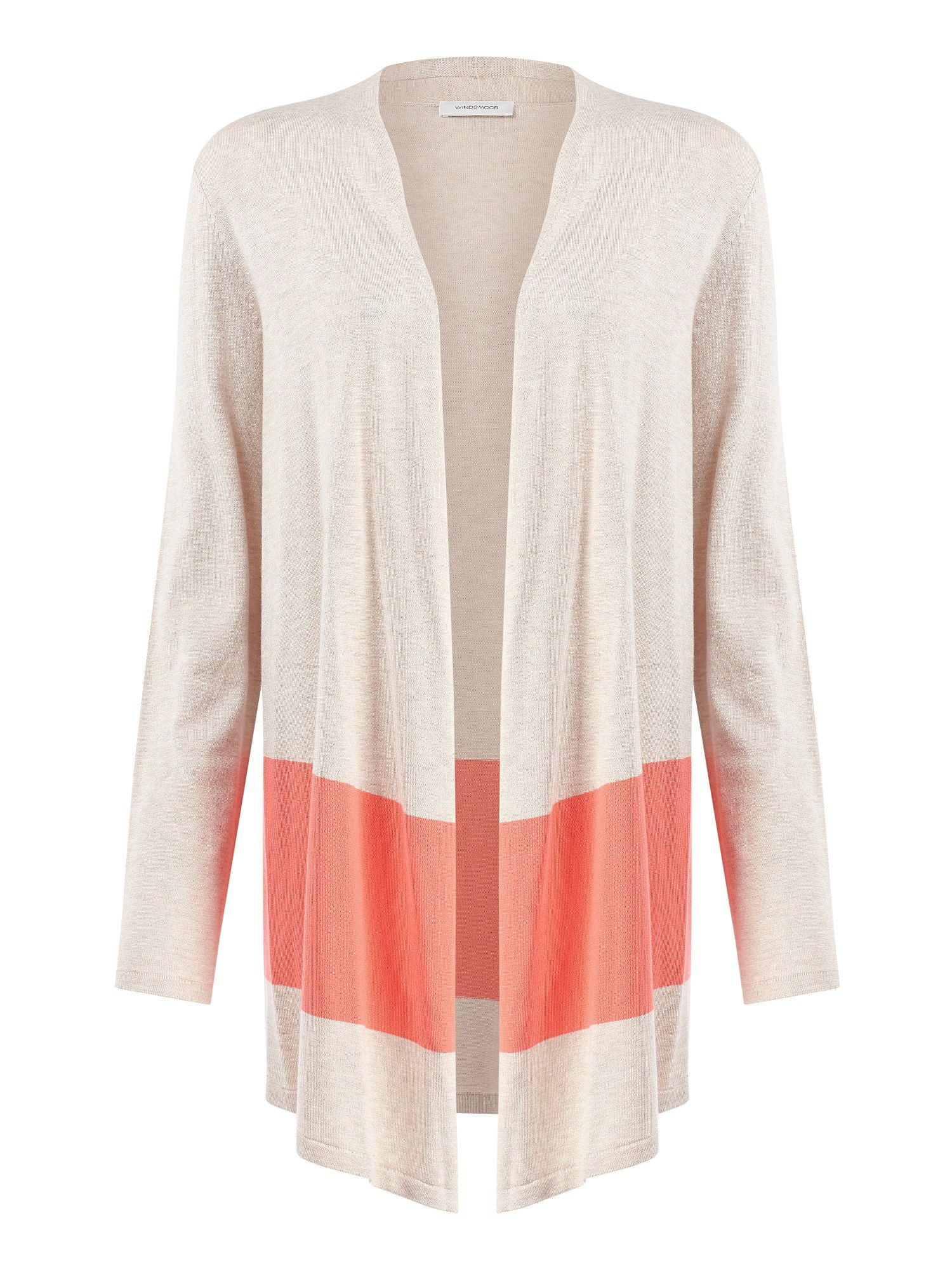 Colour block cardigan