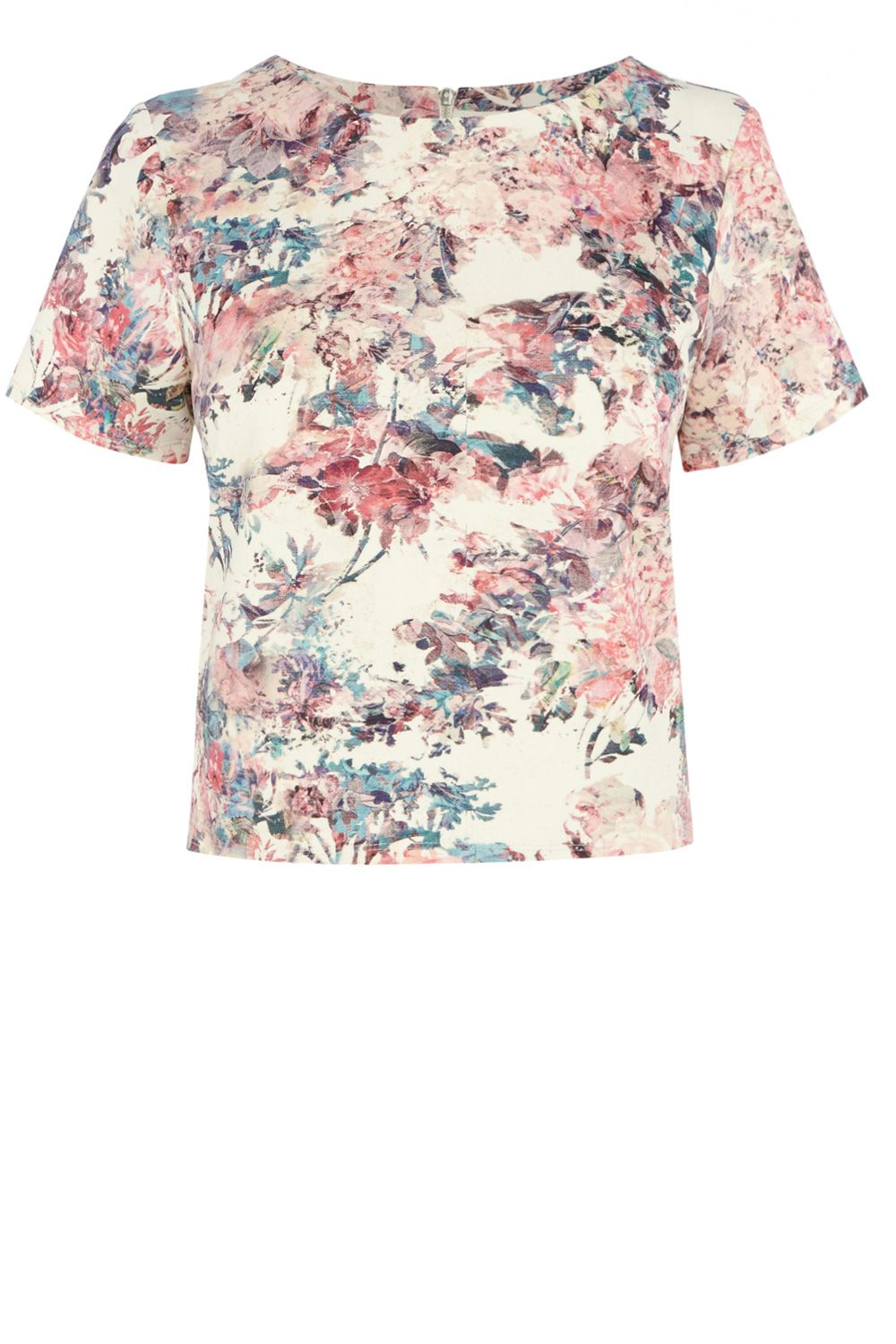 Scuba floral print co-ord top