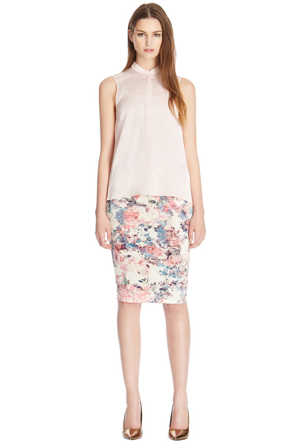 Scuba floral print co-ord skirt