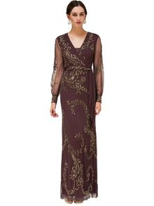 Larisa beaded full length dress