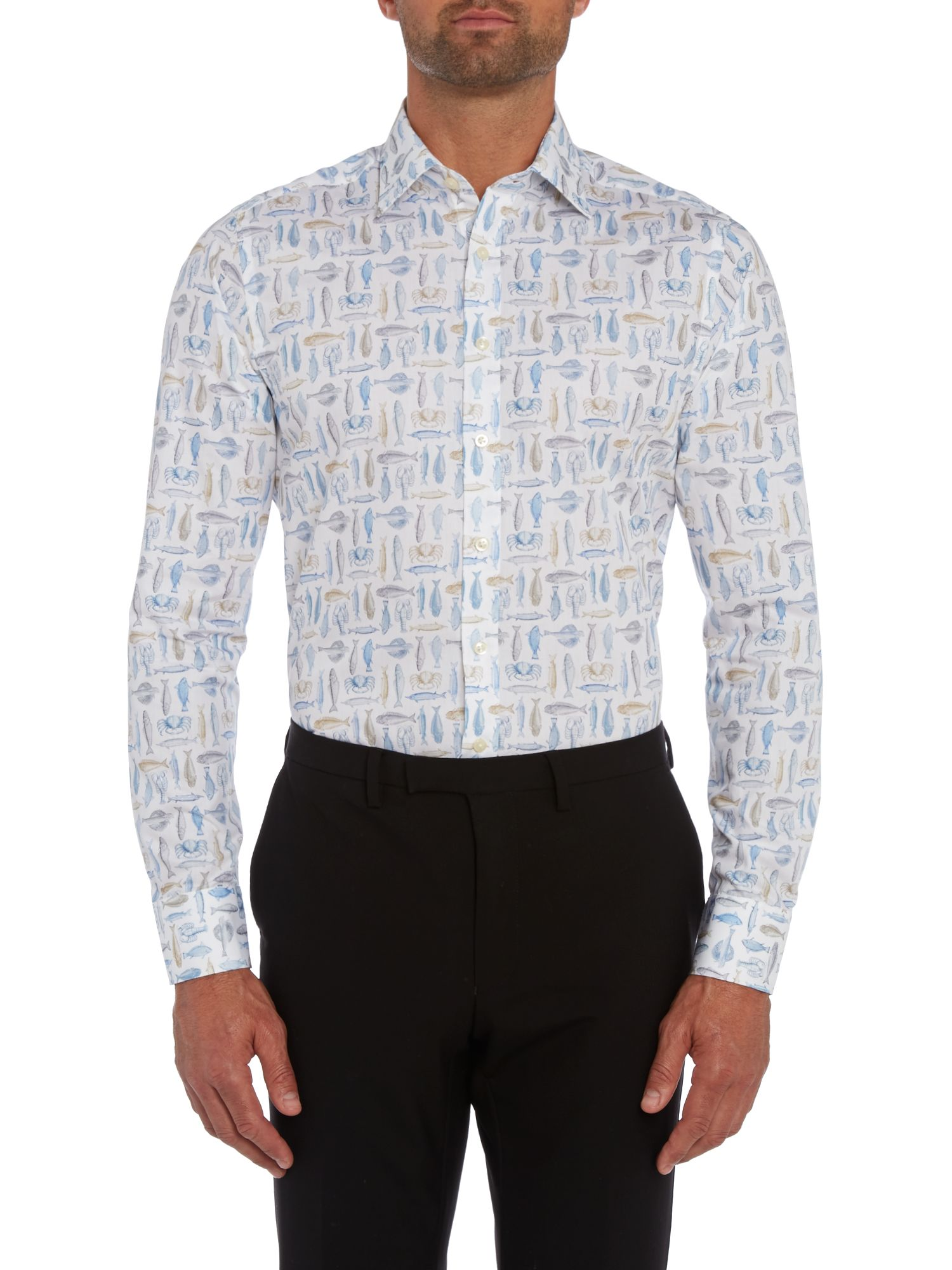 Fish slim fit shirt