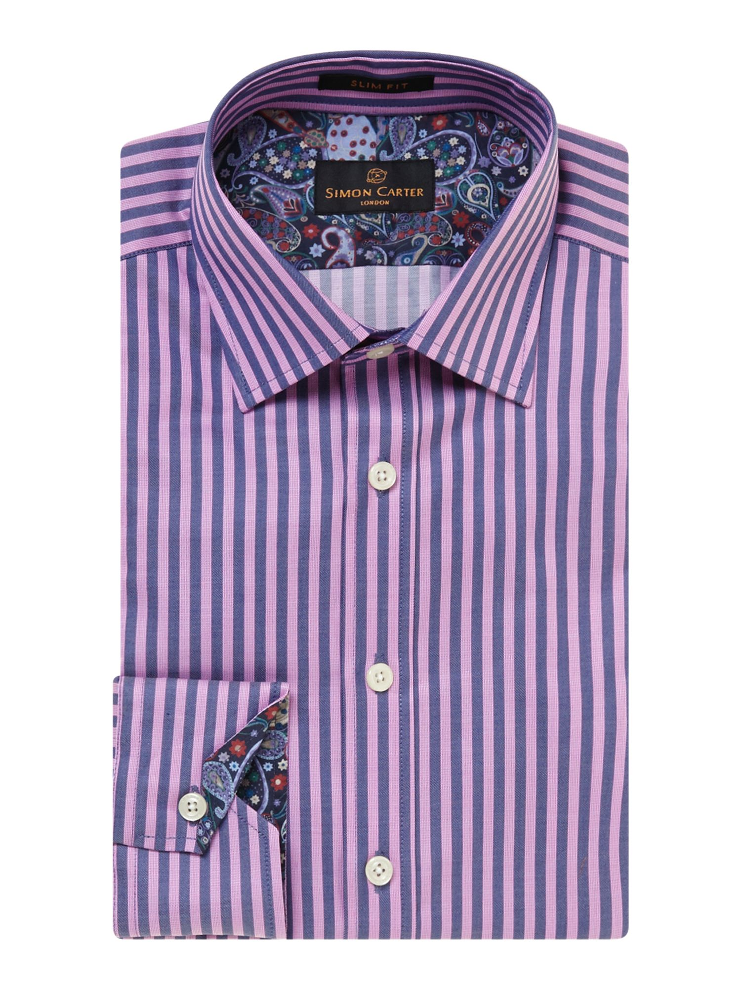 Bold stripe slim fit shirt