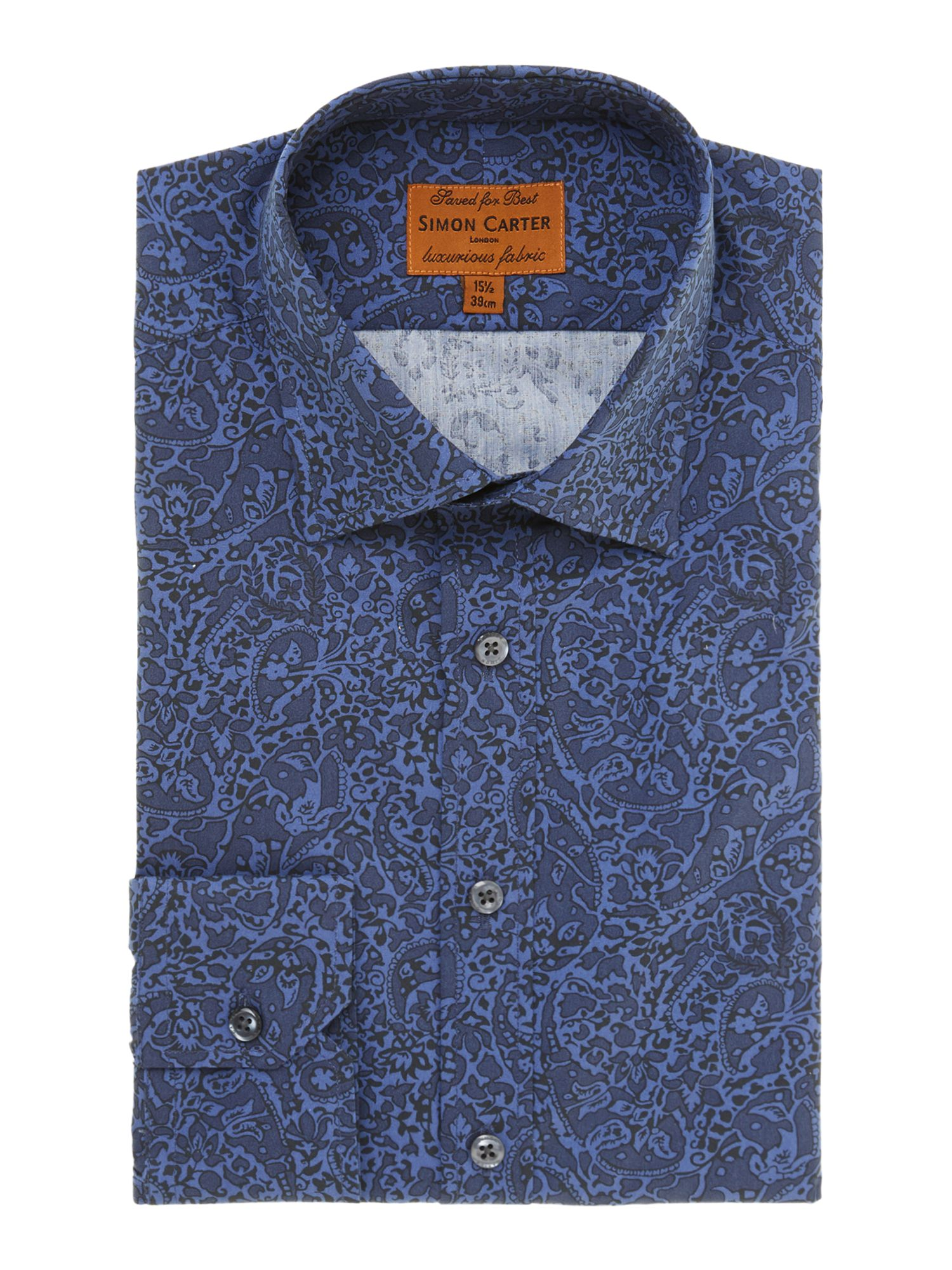 Paisley regular fit shirt