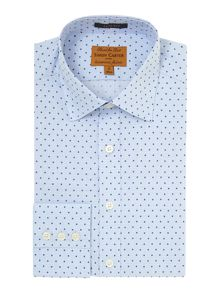 Prince Of Wales Check And Spot Slim Fit Shirt