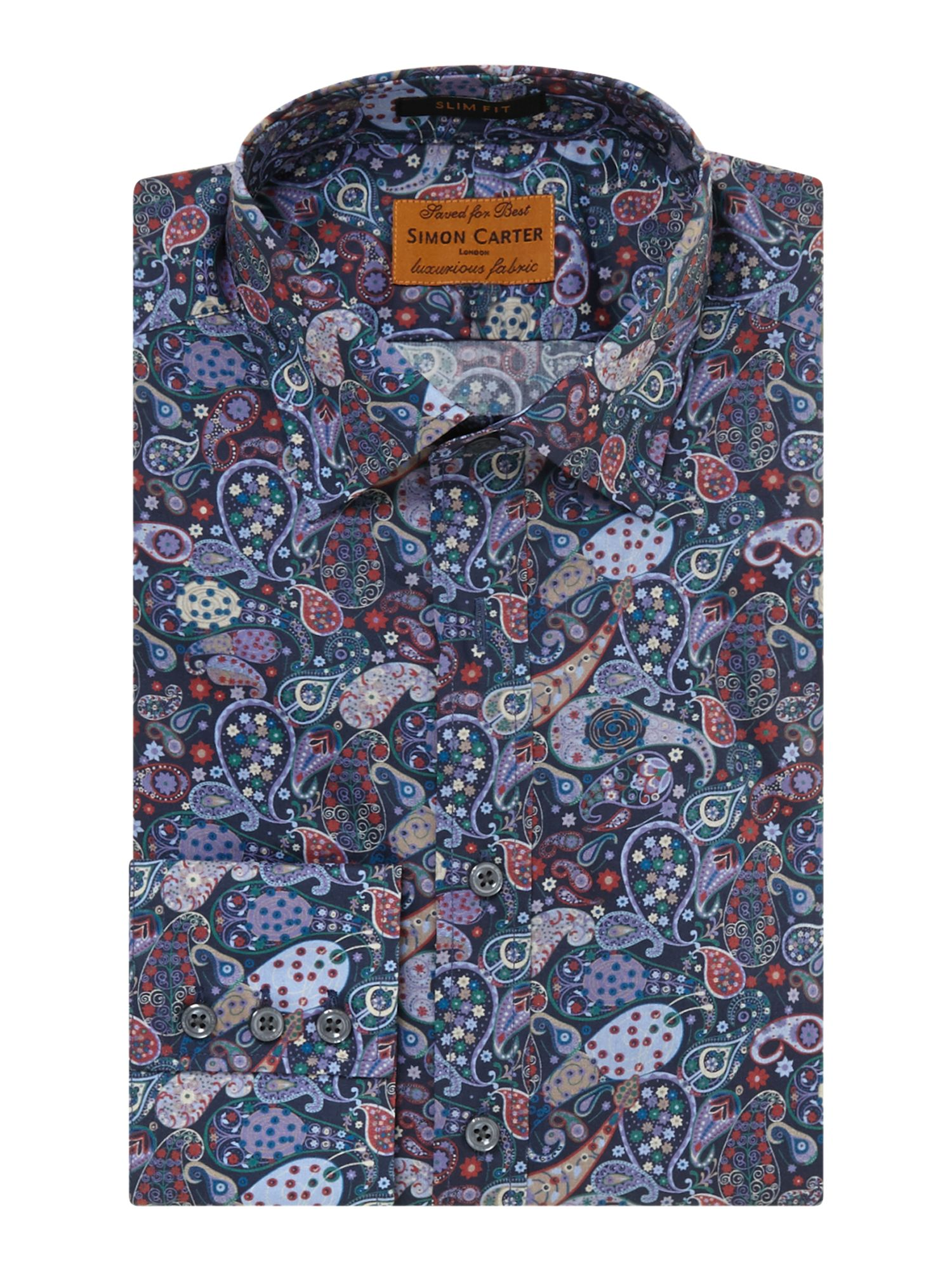 Multi paisley slim fit shirt