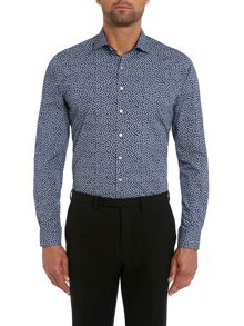 Simon Carter Small paisley slim fit shirt