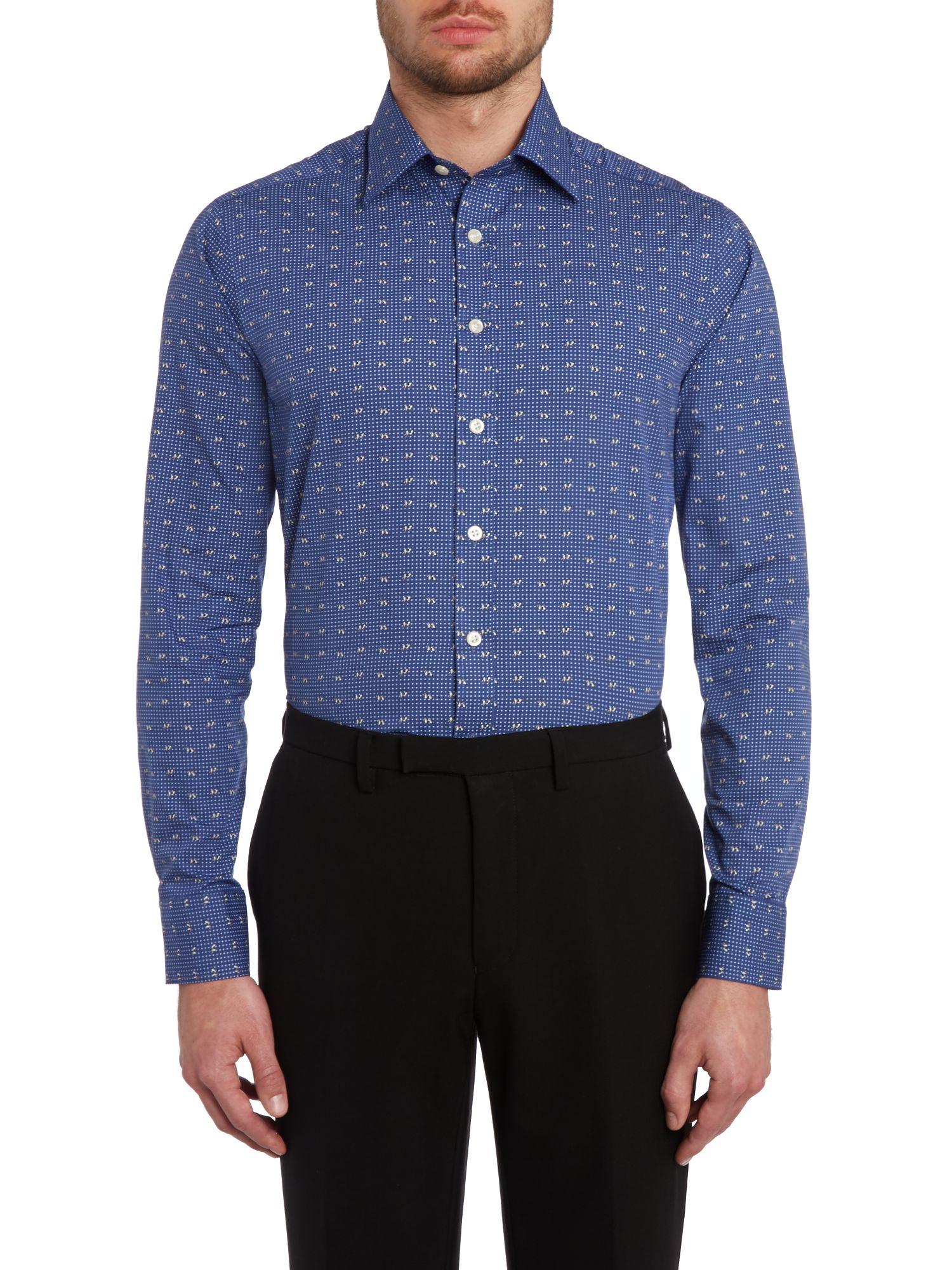 Dog dot slim fit shirt