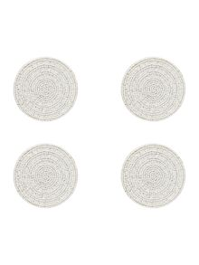 Frosted halo coasters set of 4