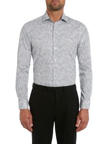Large paisley slim fit shirt
