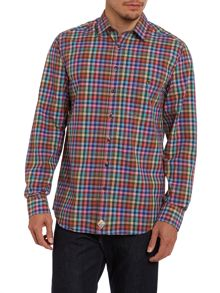 Simon Carter Gingham Multi Check Shirt