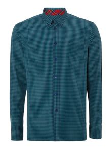 Merc Long Sleeve Gingham Check Shirt
